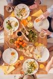 Fulländande matställe för familj arkivfoton