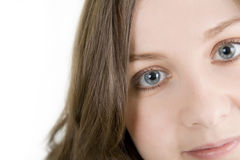 Full On. Pretty girl with nice eyes Royalty Free Stock Photo