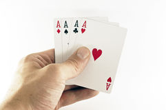 Full ace playing cards Royalty Free Stock Photo