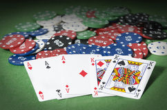 Full aces and king Stock Photography