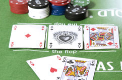 Full aces and king in poker Stock Image