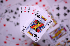 Full of aces with kings Stock Photo