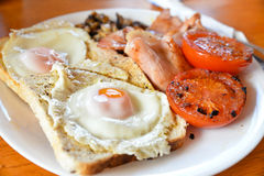 Full all day breakfast. Traditional English all day breakfast Royalty Free Stock Image