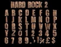 Hard Rock 2 angled 3D Alphabet illustration stock illustration