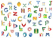 Full alphabet letters set Royalty Free Stock Photo