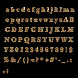 Full Alphabet made of Bronze Royalty Free Stock Images