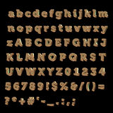 Full Alphabet made of Bronze Royalty Free Stock Photography