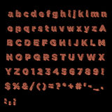 Full Alphabet made of copper. Including lower, upper and specal case Royalty Free Stock Photos