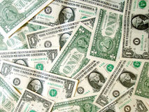 Full of American Money Dollar. On table Royalty Free Stock Image