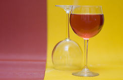 Full And Empty Wine Glasses Royalty Free Stock Photos