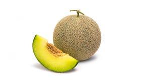 Free Full And Slice Cantaloupe Melon Isolated On White Background Royalty Free Stock Photos - 70338768