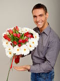 Full armful of flowers Stock Photos
