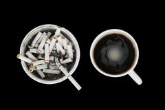 Free Full Ashtray And Coffee Cup Stock Photography - 2718902