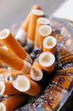 Full ashtray Royalty Free Stock Images
