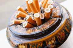 Full ashtray Royalty Free Stock Photo