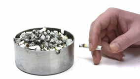 Full Ashtray Stock Image