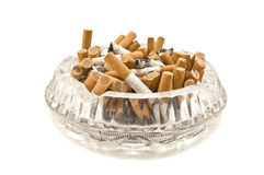 Full ashtray Royalty Free Stock Photo