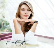 Full attention girl you something that I can't ignore Royalty Free Stock Image