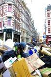 Amsterdam city full of garbage
