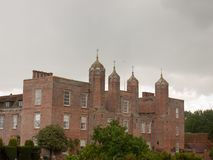 Full back view of big expensive melford hall long melford suffol Stock Image
