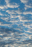 Full background with clouds - cloudy day - vertical Royalty Free Stock Photos