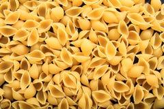 Full background of raw shells pasta. Background of raw shells pasta Stock Photo