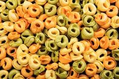 Full background of raw tortellini pasta. Full background of raw tortellini Royalty Free Stock Photos