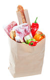 Full Bag Of Groceries Royalty Free Stock Photo