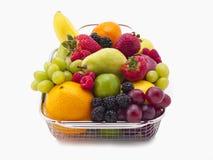 Full basket of fruit royalty free stock photo