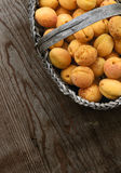 Full basket with ripe apricots Royalty Free Stock Photo