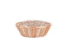 Full basket with sunflower seeds. Stock Image