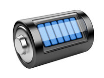 Full battery with charge level Stock Photo