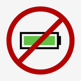 Full battery icon Stock Image