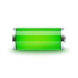 Full battery indicator Stock Images