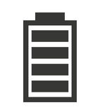 Full  Battery status isolated icon design Stock Images