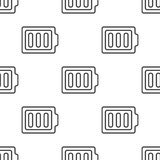 Full battery, vector seamless pattern Royalty Free Stock Images