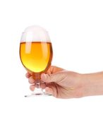 Full Beer Glass In Hand. Stock Images