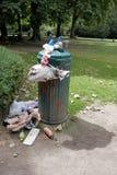 Full bin in park. Royalty Free Stock Photos
