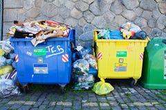 Full bins Stock Image
