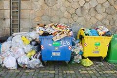 Full bins Royalty Free Stock Image