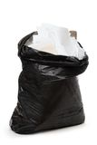 Full black plastic bag Stock Photo