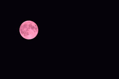 Full Blood Moon on September 2015 Royalty Free Stock Images
