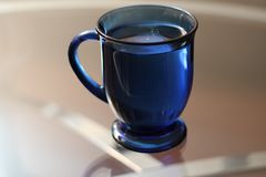 Full Blue Cup Royalty Free Stock Photo
