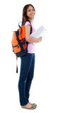 Full body Asian adult student. Stock Photo