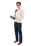 Full body Asian adult student Royalty Free Stock Photos