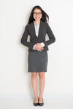 Full body Asian business woman Stock Images