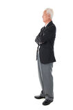 Full body Asian senior businessman Royalty Free Stock Photos
