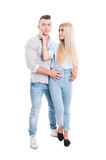 Full body of beautiful young couple Stock Images