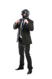 Full body of business man on guard Royalty Free Stock Image