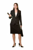 Full body of business woman Stock Photo